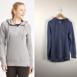 LL Bean Women's Wanderer Quarter-Zip Sweater Hood
